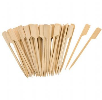 Tala 50x 9cm Bamboo Wooden Cocktail Sticks Burger Olives BBQ